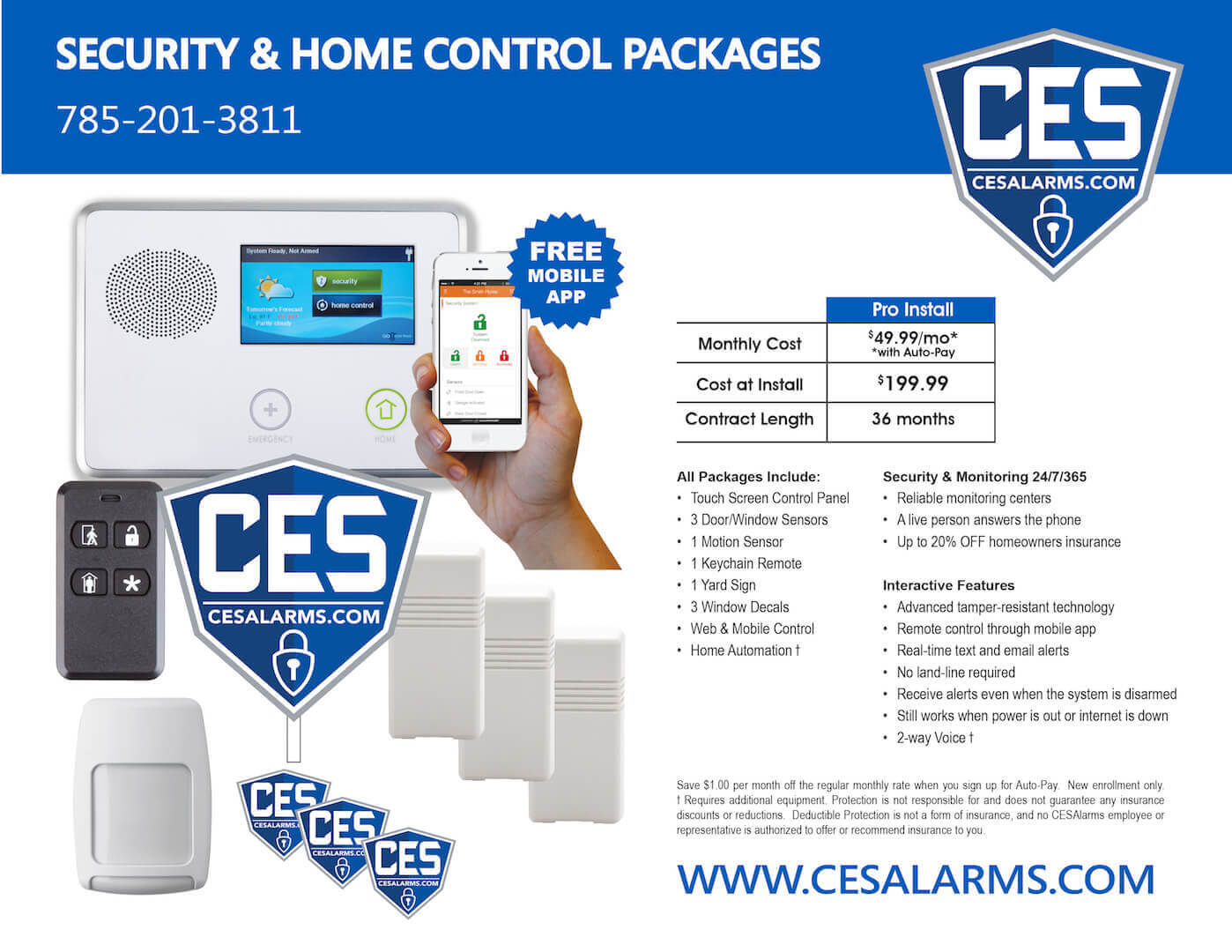 security and home control packages