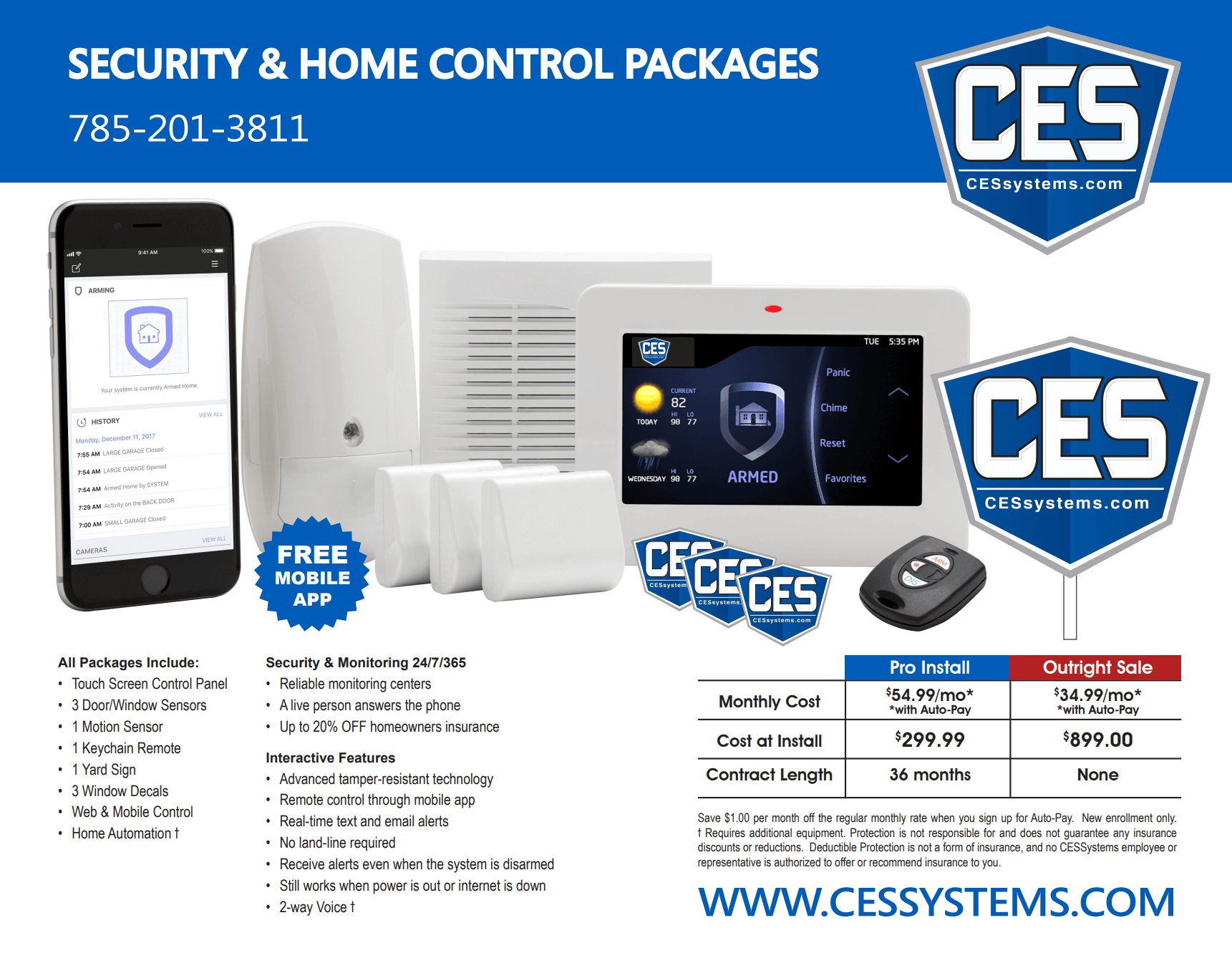 security packages and home